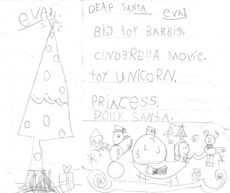 Dear Santa, Big toy barbie, Cinderella movie, Toy Unicorn, Princess, Dolly - Eva