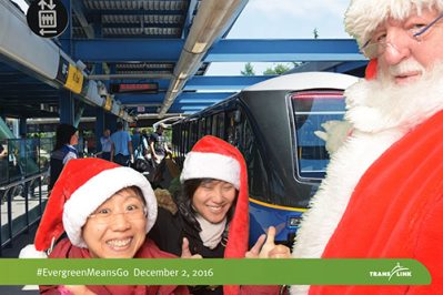 Santa Claus at the Evergreen Line in Tri-Cities Christmas 2016