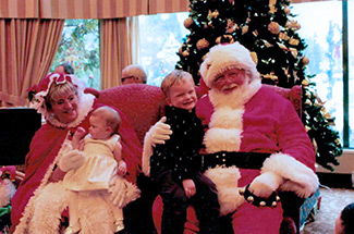 Mr. and Mrs. Claus with children